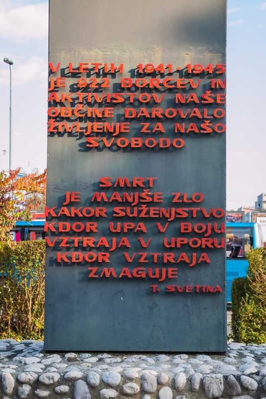 Spomenik borbe in dela